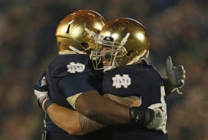 Te'o embraces his brother